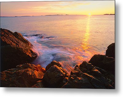 First Light Marblehead Metal Print by Michael Hubley
