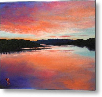 Metal Print featuring the painting Arkansas River Sunrise by Glenn Beasley