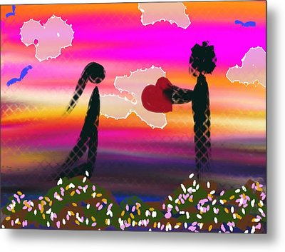 First Love Metal Print by Lady Ex