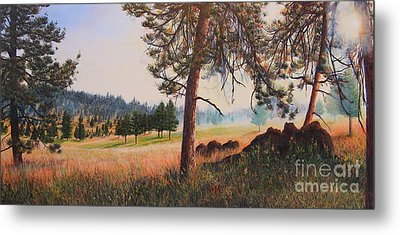 Metal Print featuring the painting First Nation Meadow by Jeanette French