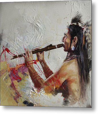 First Nations 40 Metal Print by Corporate Art Task Force