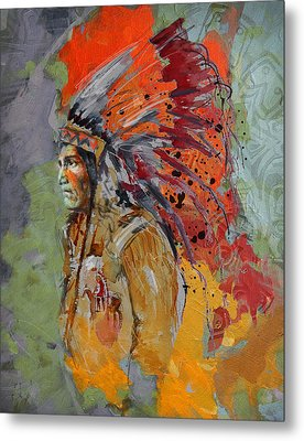 First Nations 9 B Metal Print by Corporate Art Task Force