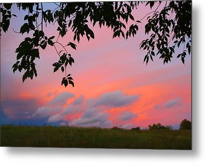 Metal Print featuring the photograph First October Sunset by Kathryn Meyer