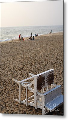 First On The Beach At Bethany Beach In Delaware Metal Print