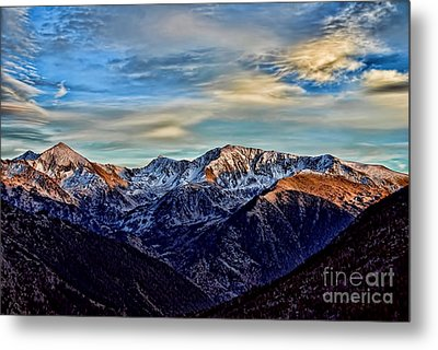 First Snow In The Mountains Metal Print