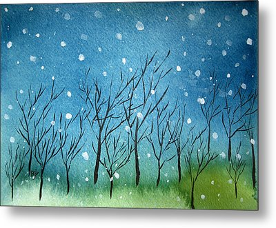 First Snow Metal Print by Oiyee At Oystudio