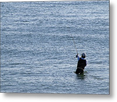 Metal Print featuring the photograph First Striper Of The Season by Greg Graham
