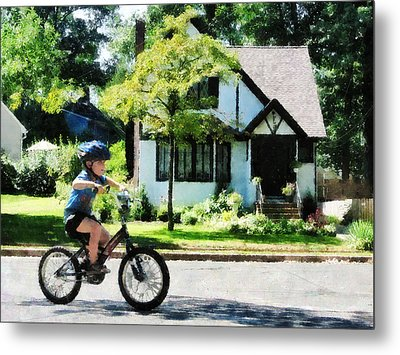 First Two Wheeler Metal Print by Susan Savad
