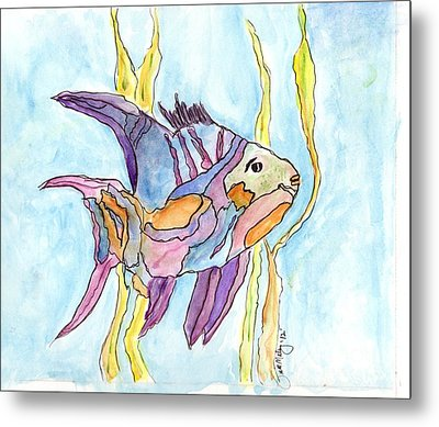 Fish 1 Metal Print by Diane Maley