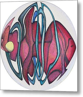 Fish Abstract Metal Print by George Curington