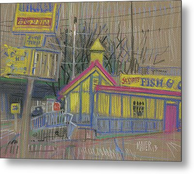 Fish And Chicken Metal Print by Donald Maier