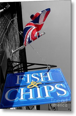 Fish And Chips Metal Print by Samantha Higgs