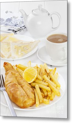 Fish And Chips Supper Metal Print by Colin and Linda McKie