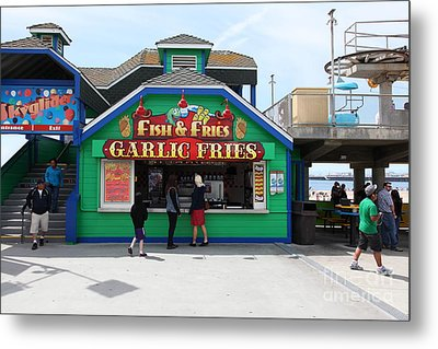 Fish And Fries At The Santa Cruz Beach Boardwalk California 5d23687 Metal Print by Wingsdomain Art and Photography