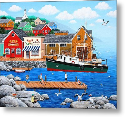 Fish And More Fish Metal Print by Wilfrido Limvalencia
