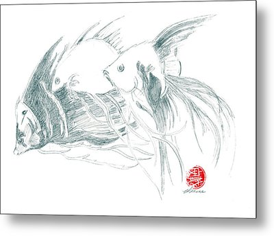Fish Metal Print by Dianne Levy