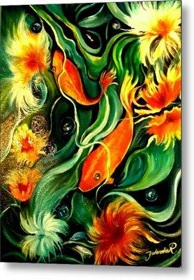 Fish Explosion Metal Print by Yolanda Rodriguez