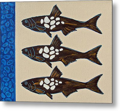 Fish Full Of Stones Metal Print