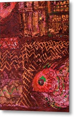Fish In A Maze Of Nets Metal Print by Anne-Elizabeth Whiteway