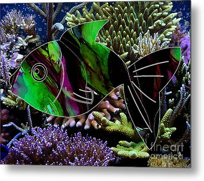 Fish In The Coral Reef Metal Print by Marvin Blaine