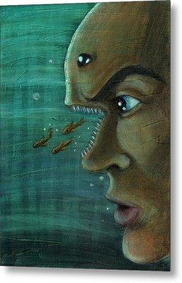 Fish Mind Metal Print by John Ashton Golden