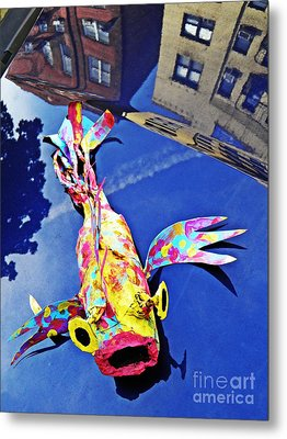 Fish Out Of Water Metal Print by Sarah Loft