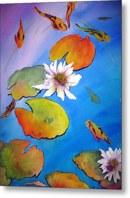 Metal Print featuring the painting Fish Pond I by Lil Taylor