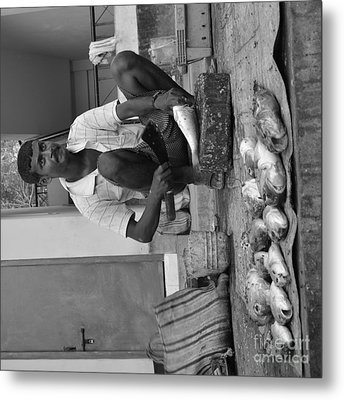 Fish Stall  Metal Print by Bobby Mandal