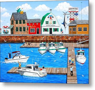 Fish Tails And Tall Tales Metal Print by Wilfrido Limvalencia