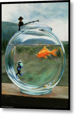 Fish Tale Metal Print by Diana Moses Botkin