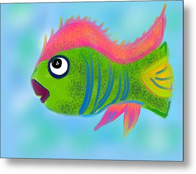 Metal Print featuring the digital art Fish Wish by Christine Fournier