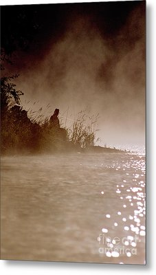 Fisher In The Mist Metal Print