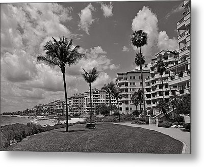 Metal Print featuring the photograph Fisher Island by Lorenzo Cassina