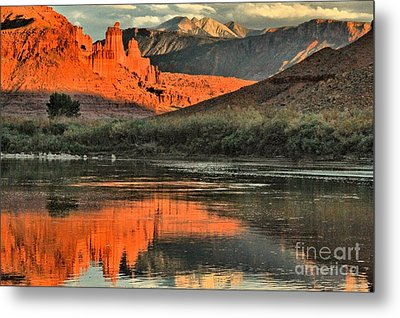 Fisher Towers In The Colorado Metal Print by Adam Jewell