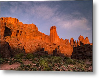 Fisher Towers Sunset Metal Print by Michael J Bauer