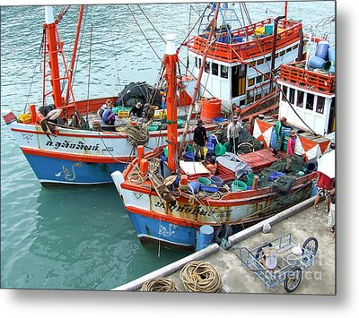 Metal Print featuring the photograph Fisherman by Andrea Anderegg