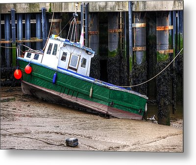 Fisherman Boat Metal Print by Svetlana Sewell