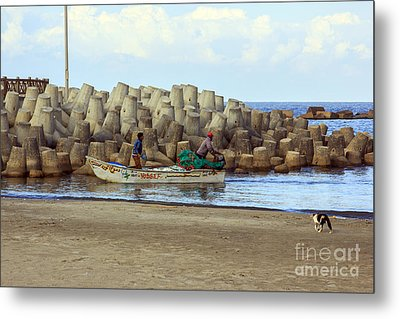 Fisherman  Metal Print by Mohamed Elkhamisy