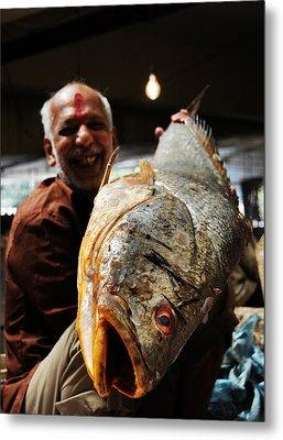 Fisherman Metal Print by Money Sharma