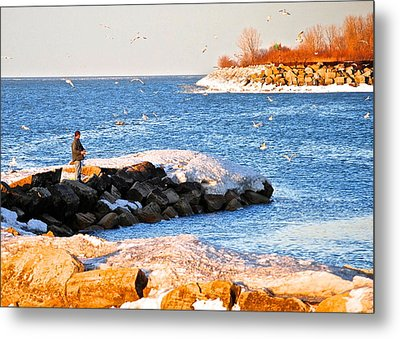 Fishermans Cove Metal Print by Frozen in Time Fine Art Photography
