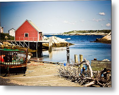 Fisherman's Cove Metal Print by Sara Frank