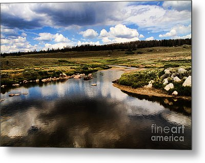 Fishermans Creek Metal Print by Edward R Wisell