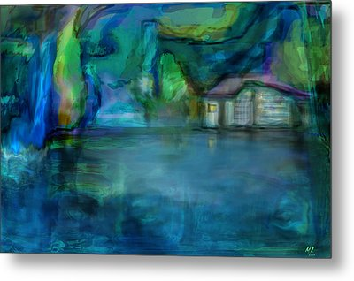 Metal Print featuring the digital art Fishermans Hut by Martina  Rathgens