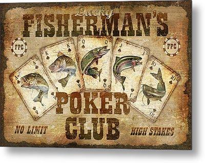 Fishermans Poker Club Metal Print by JQ Licensing