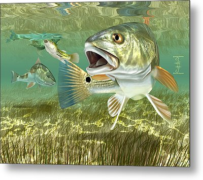 Fisherman's Post Redfish Metal Print