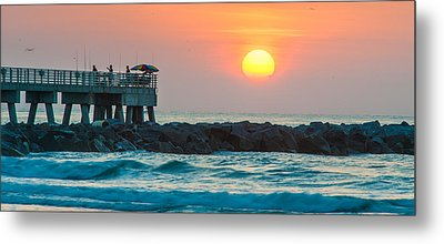 Fisherman's Sunrise Metal Print by Cliff C Morris Jr