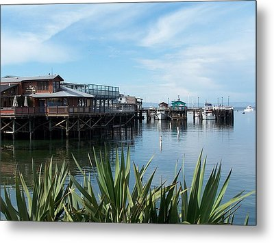 Metal Print featuring the photograph Fishermans Wharf by Christine Drake