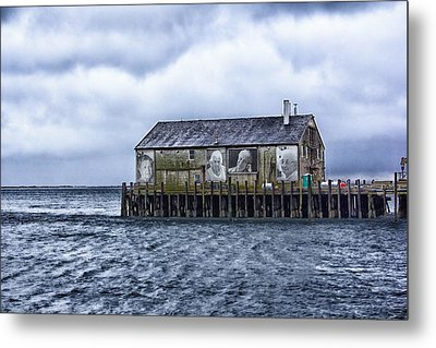 Metal Print featuring the photograph Fishermans Wharf Provincetown Harbor by Constantine Gregory