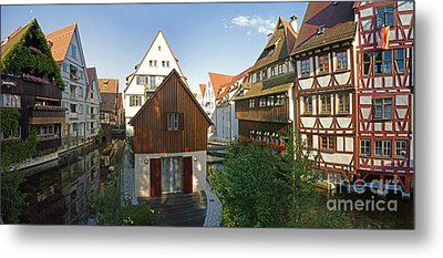 fishermens quarter in Ulm Metal Print