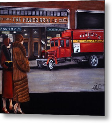 Fisher's Store Metal Print by Leah Wiedemer